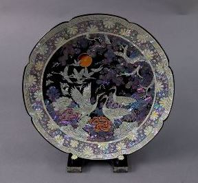 國史館-鶴紋螺鈿漆盤