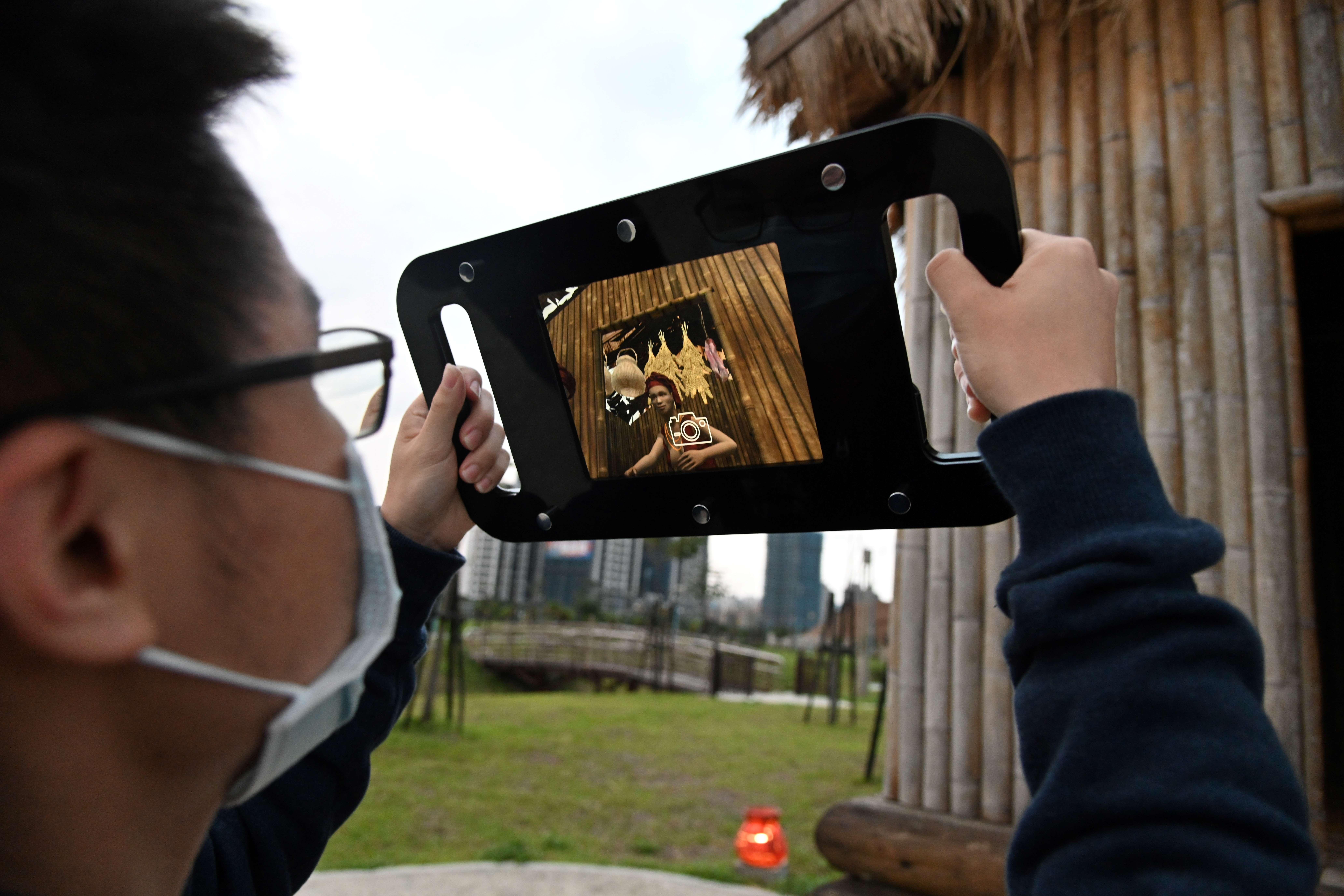 十三行聚落虛擬展示,呈現部落豐收的景象