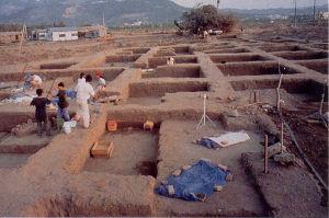 搶救十三行考古發掘情況-中央研究院歷史語言研究所提供